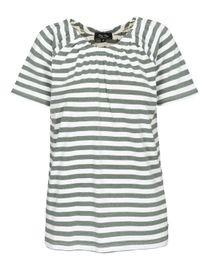 FRY DAY Carmenshirt im Streifen-Design - Dark Olive
