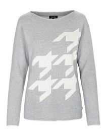 FRY DAY Pullover mit Kontrast-Muster - Silver Melange