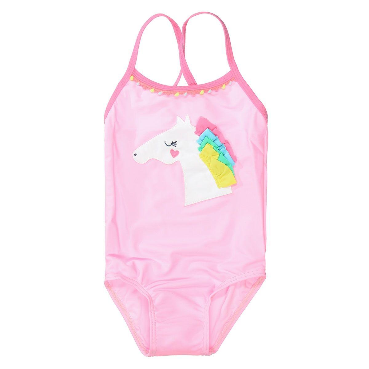 Badeanzug mit Applikation - Pink