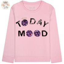 Sweatshirt Today MOOD Wendepailletten – Rose Pink