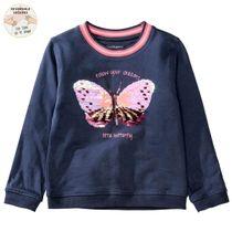 WENDEPAILLETTEN Sweatshirt Butterfly - Dark Blue