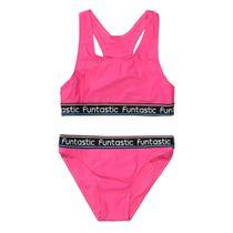 Bikini mit Schriftzug - Pink