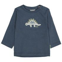 ORGANIC COTTON Langarmshirt DINO - Washed Blue