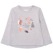 Sweatshirt mit zuckersüßen Frontprints - Stone Melange