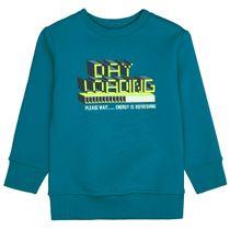 ATTENTION Sweatshirt mit Neon-Print - Petrol