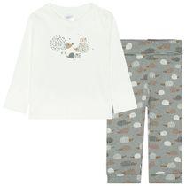 ORGANIC COTTON Pyjama MUM - Grey Melange Alloverprint