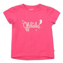 T-Shirt mit kontrastfarbenen Wording - Shiny Pink