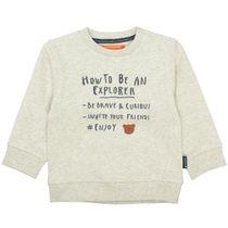 Sweatshirt mit Wording-Print - Cream Melange