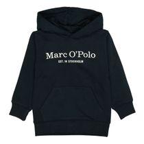 MARC O'POLO Hoodie mit Label-Print auf der Brust - Midnight