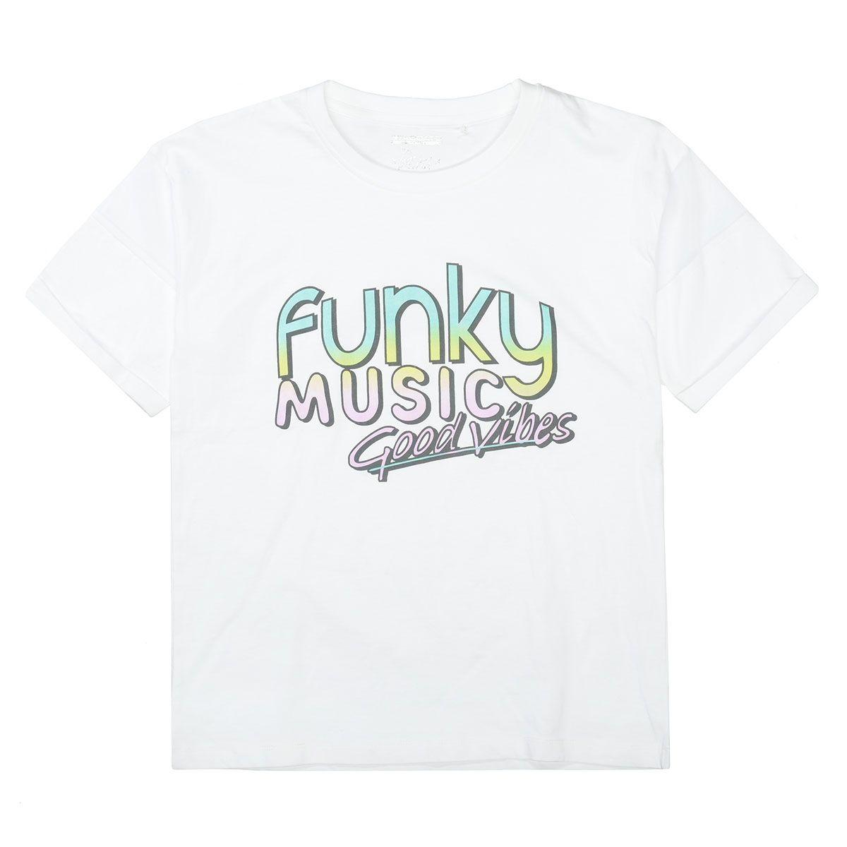 T-Shirt FUNKY MUSIC - White