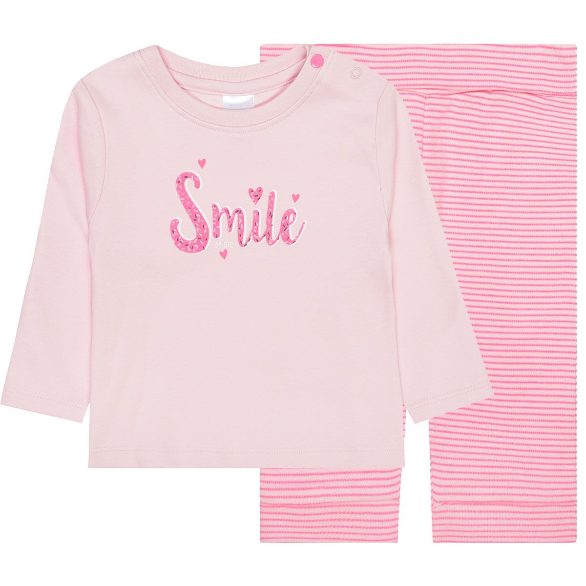 Pyjama Smile Organic Cotton - Rose Melange Stripes