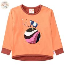 JETTE Sweatshirt mit Wendepailletten auf der Front - Deep Peach
