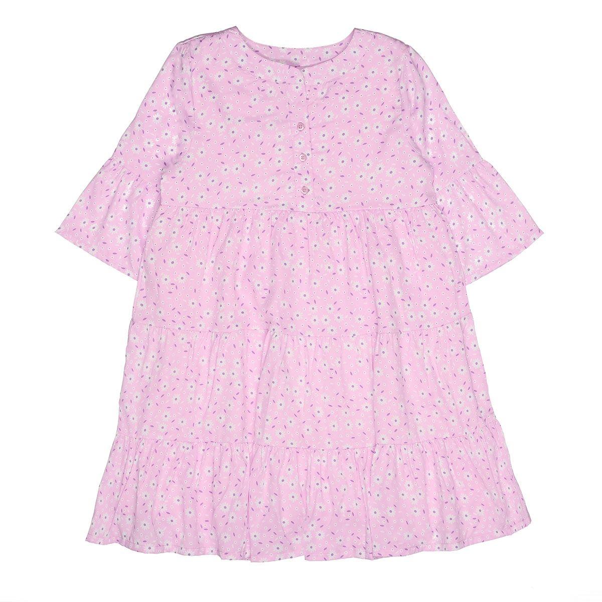 ATTENTION Kleid mit Allover-Print - Old Rose-Flower