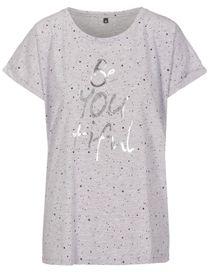 FRY DAY Shirt mit Allover-Print - Silver Melange
