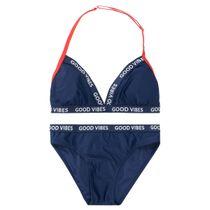Bikini mit Wording - Navy