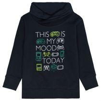 ATTENTION Sweatshirt mit Schalkragen - Midnight