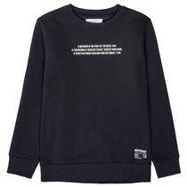 Sweatshirt mit gummierten Wording auf der Brust - Dark Navy