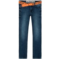 Jungen Skinny Jeans mit Gürtel Regular Fit - Blue Denim