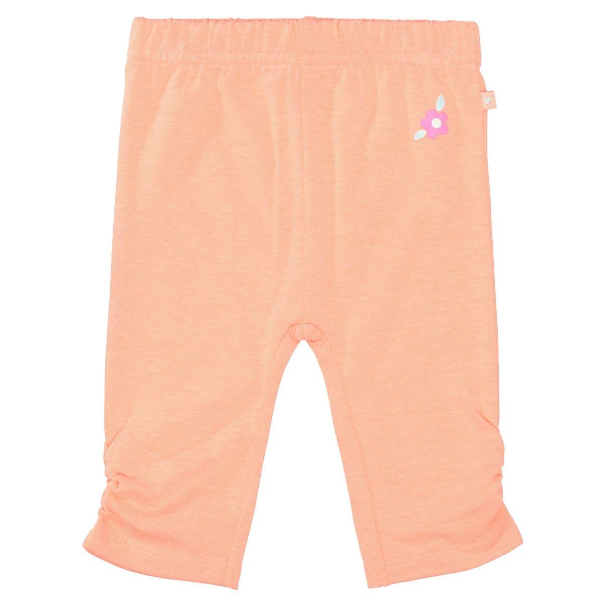 Leggings mit Raffungen - Neon Papaya