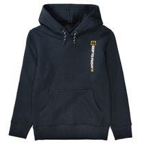 Kapuzen Sweatshirt mit gummierten Wording - Dark Navy