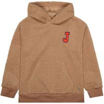 JETTE Sweatshirt mit Kapuze Teddyfell - Camel