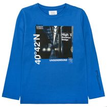 Langarmshirt mit Print SLIM FIT - Royal