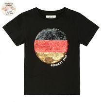 WENDEPAILLETTEN T-Shirt SOCCER - Black