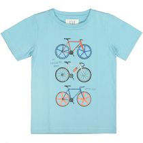 T-Shirt mit Print SLIM FIT - Light Ocean