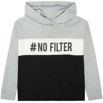 ATTENTION Kapuzensweatshirt #NOFILTER - Silver Melange