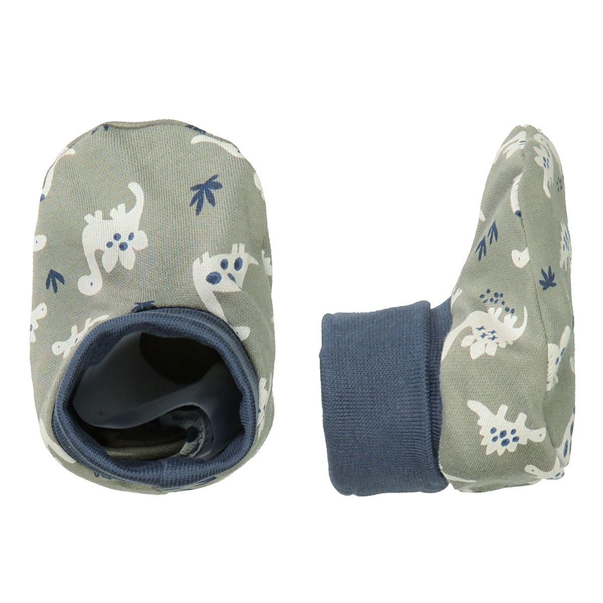 ORGANIC COTTON Baby Schuhe - Olive AOP
