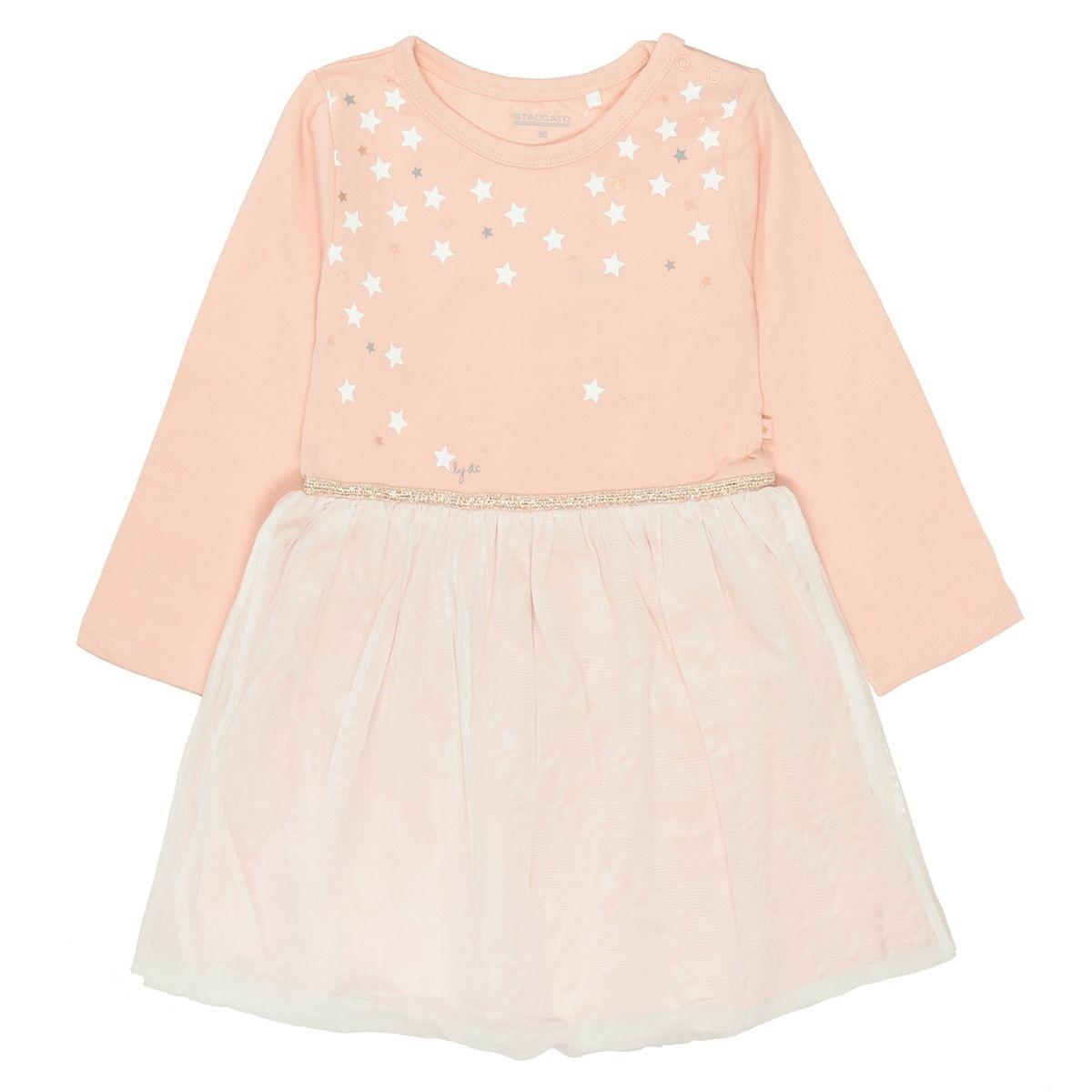 Kleid mit Sternchen - Pastel Blush