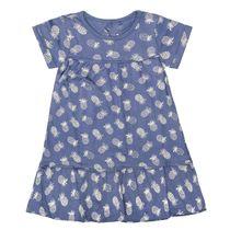 BASEFIELD Kleid mit Allover-Print - Jeans Blue